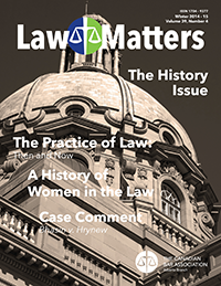 Law Matters | Winter 2014-15